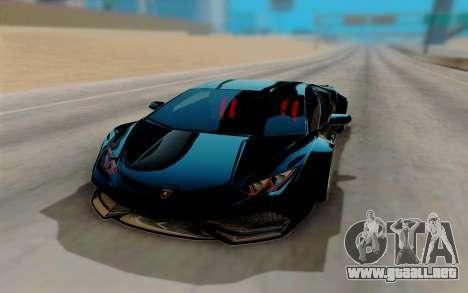 Lamborghini Huracan Custom para GTA San Andreas vista hacia atrás