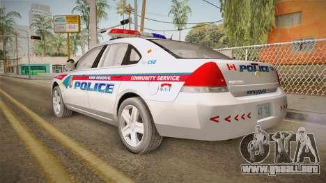 Chevrolet Impala 2006 YRP para GTA San Andreas left