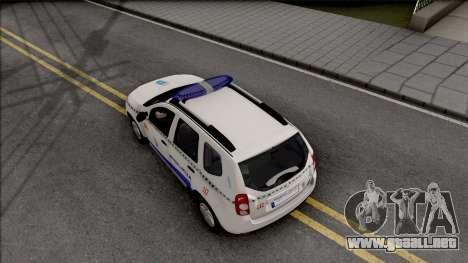 Renault Duster Spanish Police para GTA San Andreas vista hacia atrás