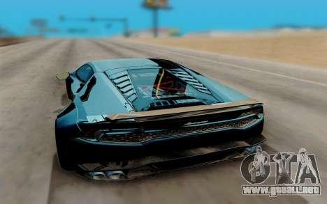 Lamborghini Huracan Custom para la visión correcta GTA San Andreas