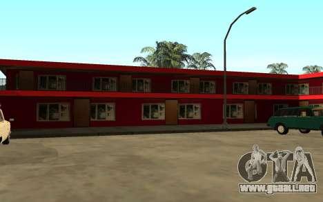 Nuevas texturas del hotel Incluyen para GTA San Andreas sucesivamente de pantalla