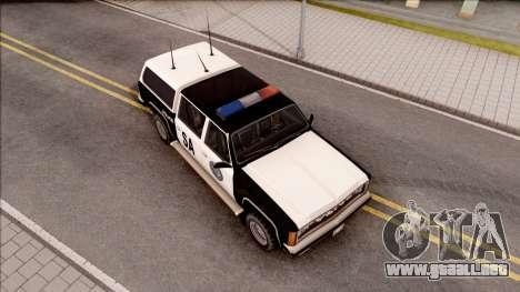 Police Rancher 4 Doors para la visión correcta GTA San Andreas