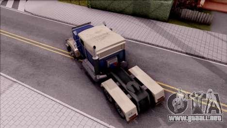 Custom Roadtrain para GTA San Andreas vista hacia atrás