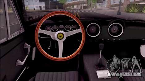 Ferrari 250 GT Berlinetta Lusso 1963 para visión interna GTA San Andreas