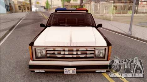 Police Rancher 4 Doors para visión interna GTA San Andreas
