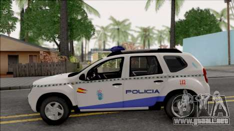 Renault Duster Spanish Police para GTA San Andreas left