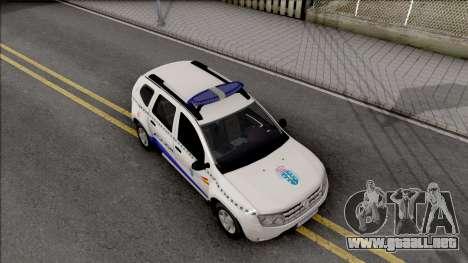 Renault Duster Spanish Police para la visión correcta GTA San Andreas
