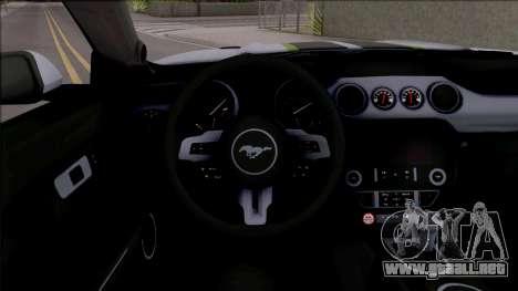 Ford Mustang 2015 Need For Speed Payback Edition para visión interna GTA San Andreas