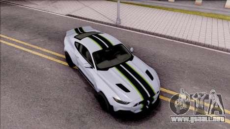 Ford Mustang 2015 Need For Speed Payback Edition para la visión correcta GTA San Andreas