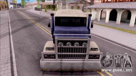 Custom Roadtrain para visión interna GTA San Andreas