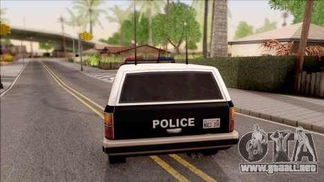 Police Rancher 4 Doors para GTA San Andreas vista posterior izquierda