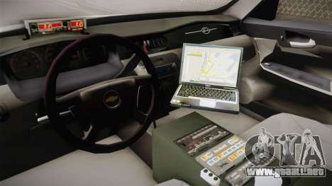 Chevrolet Impala 2006 YRP para visión interna GTA San Andreas