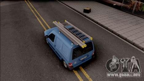 Citroen Berlingo Mk2 Van para GTA San Andreas vista hacia atrás