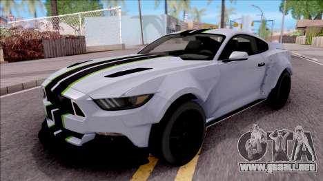 Ford Mustang 2015 Need For Speed Payback Edition para GTA San Andreas
