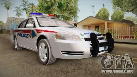 Chevrolet Impala 2006 YRP para la visión correcta GTA San Andreas