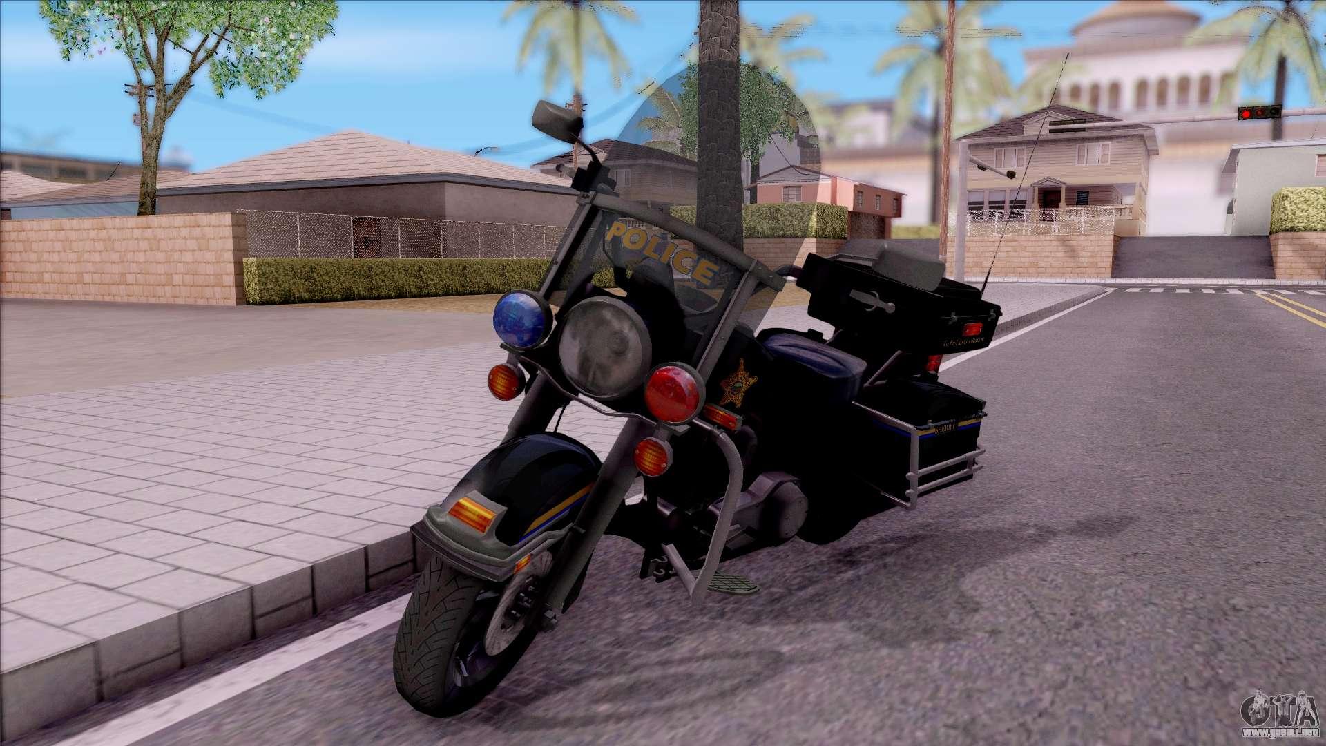 Harley Davidson Flh 1200 Police 1988 Para Gta San Andreas
