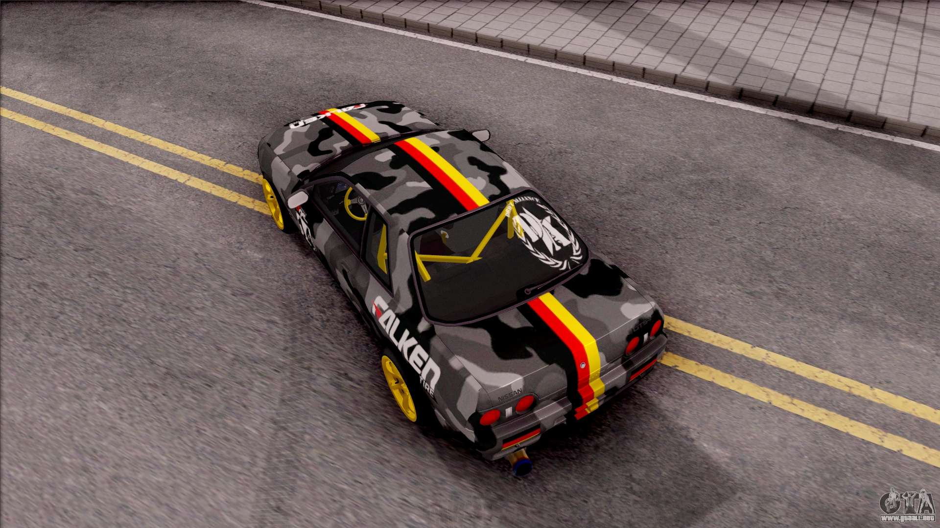 Nissan Skyline R32 Drift Falken Germany v3 para GTA San Andreas