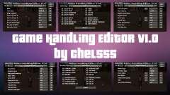 Game Handling Editor v1.0 para GTA San Andreas