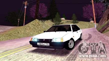 2109 blanco de la Nieve para GTA San Andreas