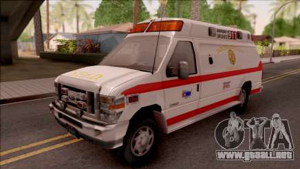Ford E-350 SFFD San Francisco Ambulance para GTA San Andreas