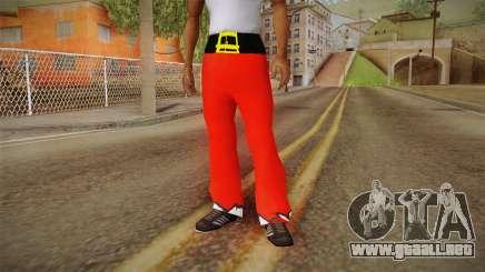 Pantalón rojo de Santa Claus para GTA San Andreas