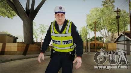 Turkish Traffice Police Officer-Long Sleeves para GTA San Andreas
