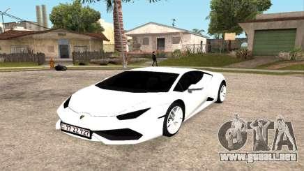 Lamborghini Huracan 2014 Armenian para GTA San Andreas