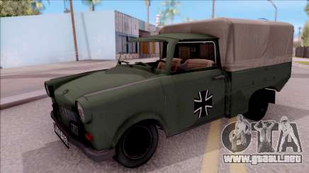 Trabant 601 German Military Pickup para GTA San Andreas