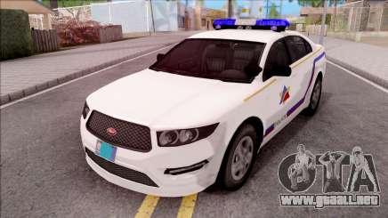 Vapid Police Interceptor Hometown PD 2012 para GTA San Andreas