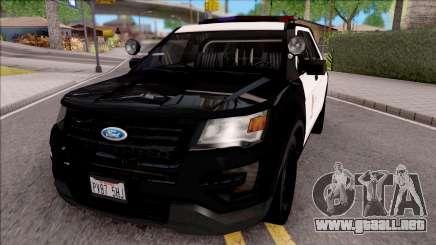 Ford Explorer Police Interception para GTA San Andreas