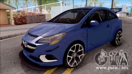 Vauxhall Corsa VXR 2016 para GTA San Andreas