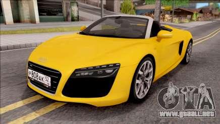 Audi R8 Cabriolet para GTA San Andreas