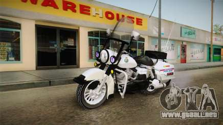 Harley-Davidson Police Bike YRP para GTA San Andreas