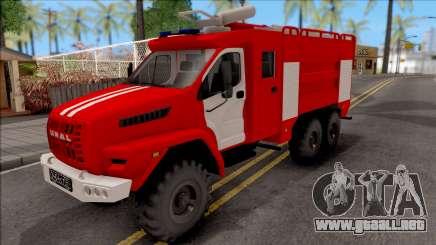 Ural SIGUIENTE Cisterna Fuego para GTA San Andreas