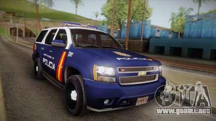 Chevrolet Tahoe Spanish Police para GTA San Andreas