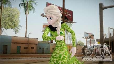Elsa Military Skin para GTA San Andreas