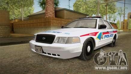 Ford Crown Victoria PI YRP para GTA San Andreas