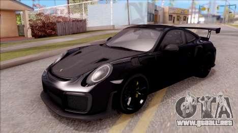 Porsche 911 GT2 RS 2017 SA Plate para GTA San Andreas
