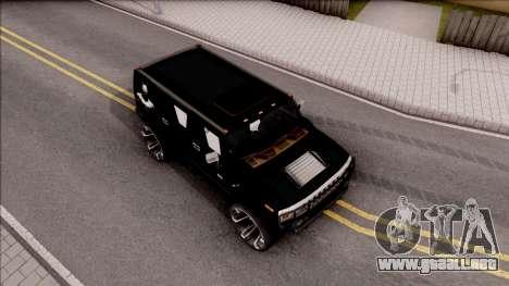 Hummer H2 Batman Edition para la visión correcta GTA San Andreas