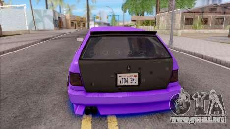 Stratum Stanced With Neon para GTA San Andreas vista posterior izquierda