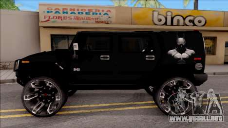 Hummer H2 Batman Edition para GTA San Andreas left
