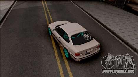 BMW M3 E36 Drift v2 para GTA San Andreas vista hacia atrás