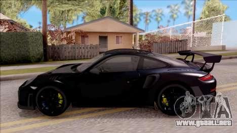 Porsche 911 GT2 RS 2017 SA Plate para GTA San Andreas left