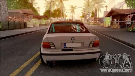 BMW M3 E36 Drift v2 para GTA San Andreas vista posterior izquierda