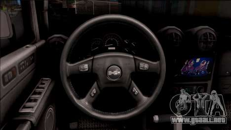 Hummer H2 Batman Edition para visión interna GTA San Andreas