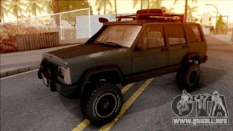 Jeep Cherokee 1984 Off-Road para GTA San Andreas