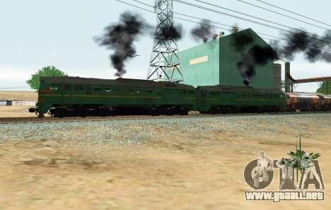 Locomotora de carga 2M62 1184 Masha para GTA San Andreas
