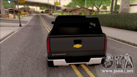 Chevrolet Silverado 2015 Off-Road para GTA San Andreas vista posterior izquierda