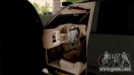 Chevrolet Silverado 2015 Off-Road para visión interna GTA San Andreas
