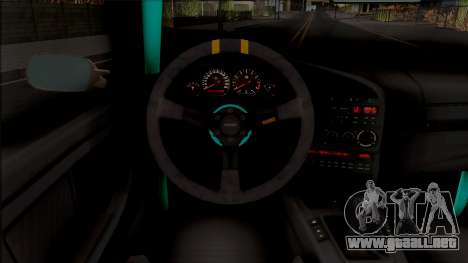 BMW M3 E36 Drift v2 para visión interna GTA San Andreas